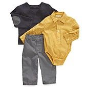 First Impressions Baby Set, Baby Boys 3-Piece Bodysuit, Sweater and Pants -   - there are 2 different combinations