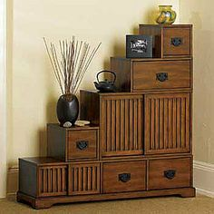 Stafford Reversible Tansu Step Chest