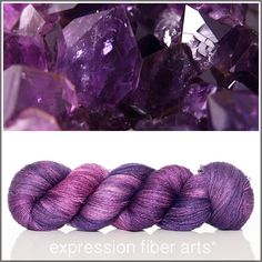 Expression Fiber Arts, Inc. - FEBRUARY AMETHYST YAK SILK LACE YARN, $39.00 (http://www.expressionfiberarts.com/products/february-amethyst-yak-silk-lace-yarn.html)