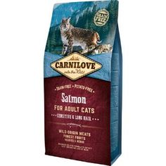 Carnilove Salmon Adult Cat Food – Sensitive & Long Hair 2kg. The meat and fat of salmon are ideal sources of omega-3 unsaturated fatty acids, which have anti-inflammatory properties and also have a positive impact on the quality of hair and skin.