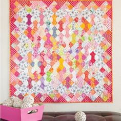 """GO! Bowtie Bonanza Quilt Pattern (PQ10300) - made with the GO! Bowties-4"""" Finished by Alex Anderson Die (55413)"""