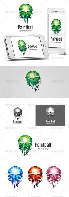 Paintball Logo  #GraphicRiver         An excellent logo template highly suitable for any kind of business.   4 colours available   Fully layered logo template. All colors and text can be modified.   Font used:   Excelsior