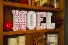 Craft your own light-up Christmas letters, with a Noel or Xmas kit, available from The Range #christmas #letters #christmasdecor