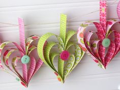 Ribbons & Glue: Heart Garland Tutorial...