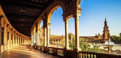 La Plaza de España, una de las maravillas de #Sevilla