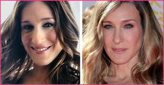 Sarah Jessica Parker ever said anything about the rumor she has had nose job procedure. But after we look the picture, we can say that Sarah Jessica Parker has doing nose job. Plastic Surgery Before After, Plastic Surgery Gone Wrong, Plastic Surgery Photos, Sarah Jessica Parker, Priscilla Presley, Kardashian, Nose Reshaping, Afro, Celebrities Before And After