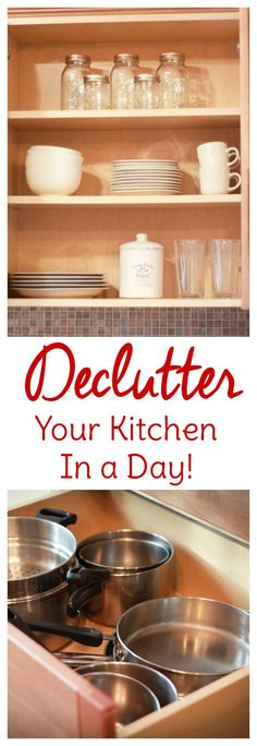 Kitchen organization begins with a kitchen declutter. Find out how quick and painless decluttering your kitchen can be with this step-by-step process.