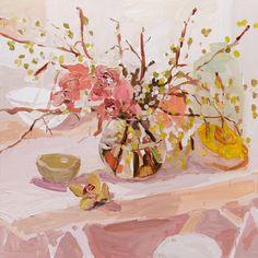 "huariqueje: "" Cymbidium Still Life - Laura Jones Australian , Oil on linen, "" Art Painting Still Life, Still Life Art, Painting Art, Painting Inspiration, Art Inspo, Beautiful Paintings, Flower Art, Design Art, Illustration Art"