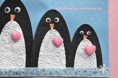 Tučňáci se srdíčky - rodinka