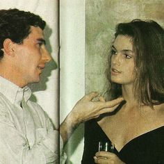 In Sao Paulo with Cindy Crawford ~ 1990