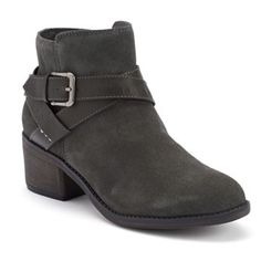 SONOMA life + style® Women's Buckle Ankle Boots - Gray Suede - kohls.com - Original Price 75 Dollars - Sale Price 30