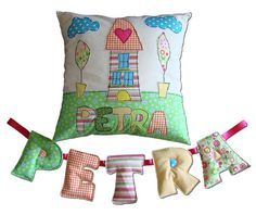Petra - great name!  Kids Pillow Personalized  Pillow Case Cushion by DreamsGuardian, $65.00  http://appellationmountain.net/name-of-the-day-petra/