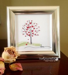 "Here's a sweet little idea for Valentine's Day... Found this little 5"" x 5"" frame at JoAnne's for $4.99 with a 30% coupon...DEAL! Images that show move"