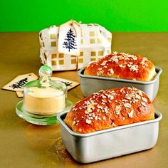 Mini Country Loaves - homemade bread. You can even make your own fresh butter if you choose to do so.