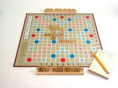 Vintage Scrabble by OldGreenCanoe on Etsy, $14.00