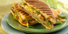 Indulge in the variety of delicious flavors in these hearty panini made with tender chicken breast and slices of tangy pineapple with Sargento® Natural Blends® Sliced Cheddar-Mozzarella Cheese. It's all between a hearty ciabatta roll that's toasted to perfection with delicate cheese bubbling out of the sides.