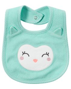 Baby Girl Owl Teething Bib | Carters.com