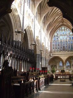 Photo by c. Exeter Cathedral, Devon England, Devon And Cornwall, Chichester, Hereford, Westminster Abbey, Peterborough, Ancient Architecture, Beautiful Buildings