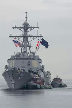 USS Bainbridge returns to Naval Station Norfolk being deployed since June. Welcome Home.