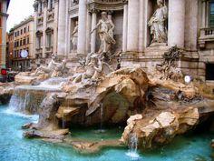 Infamous Trevi Fountain Rome Italy - Vacation 2007
