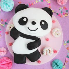 Cute Kawaii Panda Cake - Part One - Baking and Carving the Cake / Wilton UK Bolo Panda, Panda Cakes, Panda Birthday, Kawaii Room, Wilton Cake Decorating, Marble Cake, Wilton Cakes, Fashion Cakes, Chocolate Buttercream