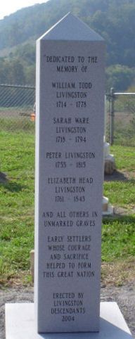 Elizabeth Head Livingston et al Monument Blackwater, Virginia-Livingston Cemetery. Thank you debbyg1013