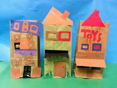 Architecture through brown paper bag buildings!