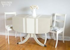 q can anyone tell me how to paint french grain sack stripes on a table, painted furniture, painting wood furniture