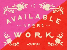 Available for Work by Valerie Jar