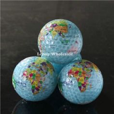 New globle map,dollar and Pound three designs golf balls,special design golf  ball 4pcs/lot free shipping