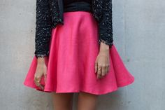 Circle skirt. The website shows top 10 DIY Clothing Tutorials.