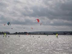 Windsurfers. Poole harbour