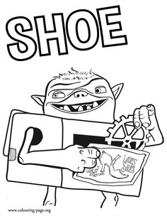 Meet Shoe! He is a character in the upcoming movie The Boxtrolls and also Fish's best friend. Just print out and have fun with this free coloring page for kids!