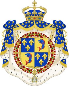 french royal coat of arms | Coat of Arms of the Dauphin of France (c.17th-18th Centuries Ornaments ...