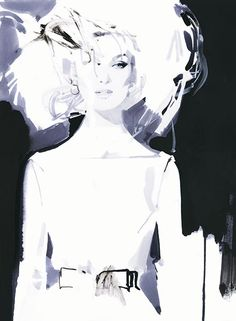 Absolut Vodka/Acne Paper, 2010 by David Downton David Downton, Graphic Pattern, Fashion Sketches, Fashion Illustrations, Dress Sketches, Drawing Fashion, Design Illustrations, Fashion Sketchbook, Rene Gruau