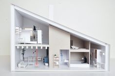 Small #Family Housing in #Slovakia by TOITO #architecture #model #house