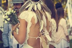 Couture Events Blog- Coachella Inspired Wedding: Feather Bride