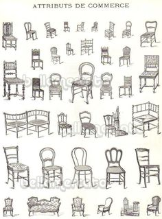 Vintage French Furniture Book Illustrations of Chairs Beds from . Best Picture For French antiques Drawing Furniture, Chair Drawing, Furniture Sketches, Love Chair, Chair Bed, French Furniture, Antique Furniture, Classic Furniture, Furniture Styles