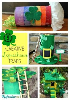 How to catch a Leprechaun and creative ideas like funny pranks, Leprechaun trap and even silly Leprechaun tricks.  If you like these ideas then you'll love these 35 St Patricks Day Activities for Kids which include leprechaun, pot of gold, shamrocks crafts.