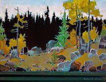 Robert Genn, artist, original landscape paintings at White Rock Gallery Goat Island, Lake of the Woods