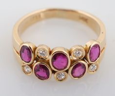 Yellow Gold Ruby & Diamond Ring for auction. Please see attached appraisal image for more information. Ruby Diamond Rings, Auction, Canada, Gemstones, Jewellery, Yellow, Antiques, Bracelets, Gold