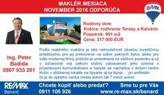 Maklér mesiaca v našej kancelárii Ing. Peter Badida odporúča túto nehnuteľnosť >> http://www.remax-slovakia.sk/reality/detail/84803/predaj-domu-499-m2-kosice-zapad/re-max-benard/M3614/   Všetky nehnuteľnosti makléra - nájdete na http://www.re-max.sk/peterbadida  Hľadáte iný druh nehnuteľnosti alebo chcete predať svoju nehnuteľnosť? Sme tu pre Vás >> http://www.re-max.sk/benard