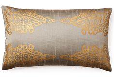 Pasha Khari 14x24 Pillow, Gray on OneKingsLane.com