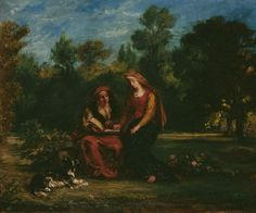 DELACROIX, Eugène  : The Education of the Virgin   (1852)   oil on canvas   46 x 55.5    The National Museum of Western Art, Tokyo