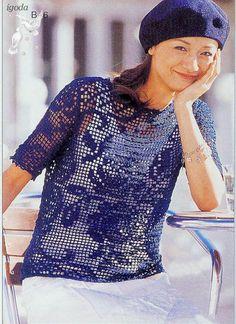 roupas femininas de crochê filé