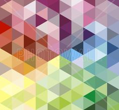 Colorful Triangles - Wall Mural