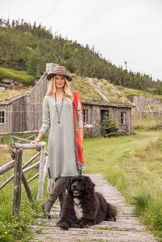 Sylvie Dress - The perfect get-up-and-go piece for cooler weather. Extra fine merino wool rib body and jersey sleeves with high rib cuff. V-neck and side slits.