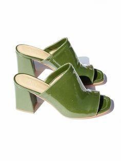 37bb1636757 Maryam Nassir Zadeh Penelope Mule - Olive Sparkle Mules Shoes