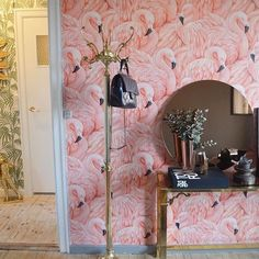 Seeing our flamingo wallpaper being used always makes us so happy 💕☺️ Regram a flamingo in a flock of pigeons❤️ Girl Bedroom Designs, Girls Bedroom, Bedroom Ideas, Funky Living Rooms, Flamingo Wallpaper, Big Girl Rooms, Furniture Makeover, Inspiration, Small Entry