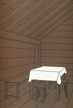 Inside a Weekend Cabin (1969) Patrick Caulfield http://decdesignecasa.blogspot.it